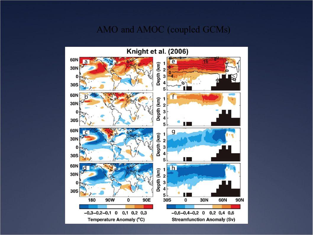 AMO and AMOC (coupled GCMs)