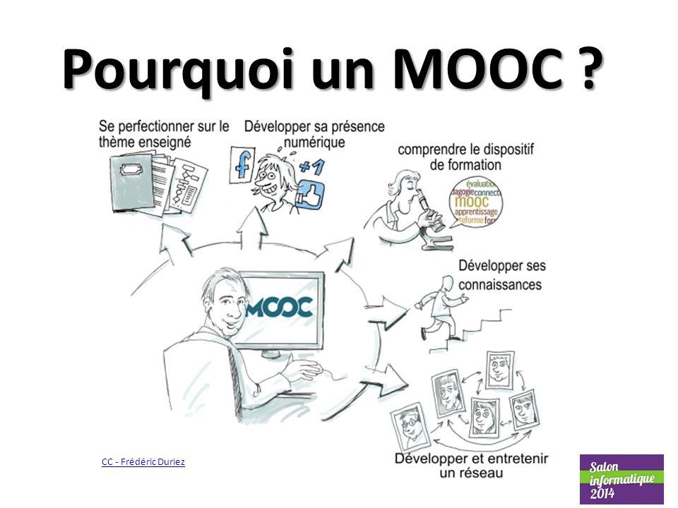 Pourquoi un MOOC ? CC - Frédéric Duriez