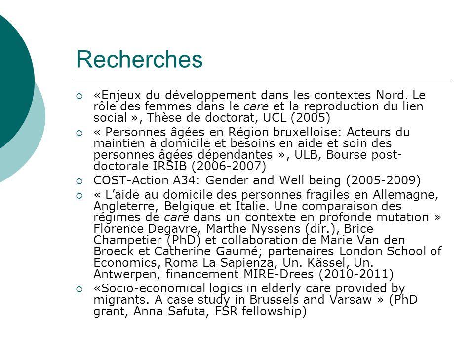Recherches  «Enjeux du développement dans les contextes Nord.