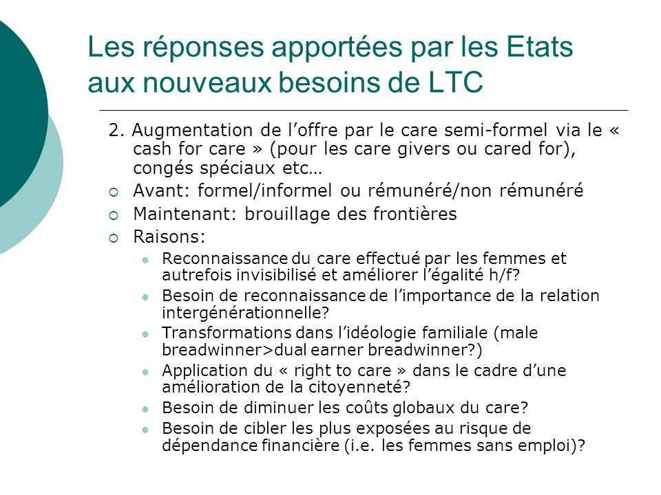 Les réponses apportées par les Etats aux nouveaux besoins de LTC 2.