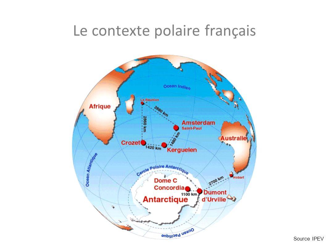 Le contexte polaire français Source IPEV