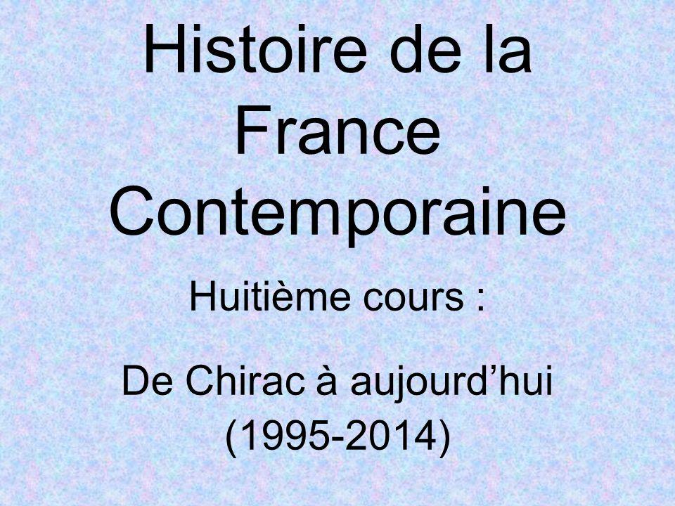 Histoire de la France Contemporaine Huitième cours : De Chirac à aujourd'hui (1995-2014)