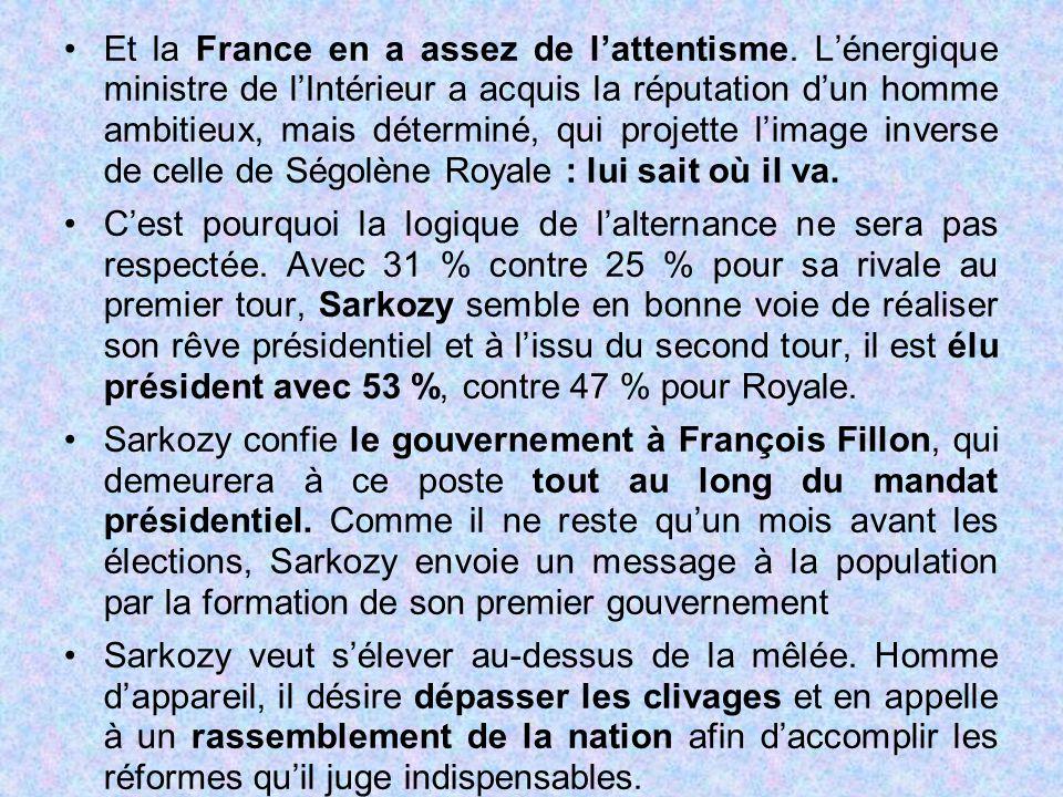 Et la France en a assez de l'attentisme. L'énergique ministre de l'Intérieur a acquis la réputation d'un homme ambitieux, mais déterminé, qui projette