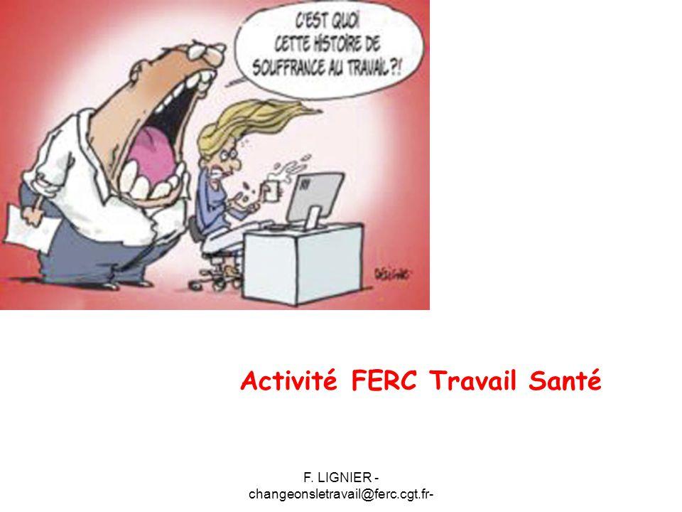 F. LIGNIER - changeonsletravail@ferc.cgt.fr- Activité FERC Travail Santé