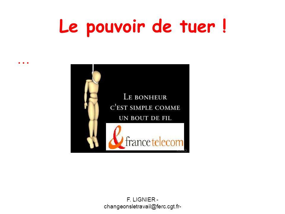 F. LIGNIER - changeonsletravail@ferc.cgt.fr- Le pouvoir de tuer ! …