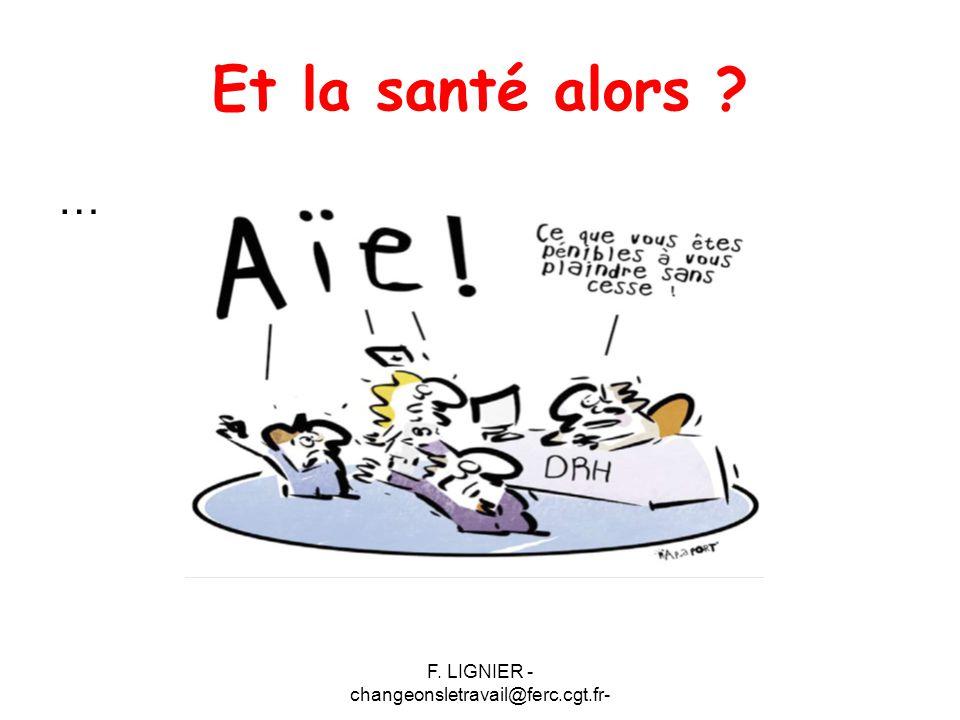 F. LIGNIER - changeonsletravail@ferc.cgt.fr- Et la santé alors ? …