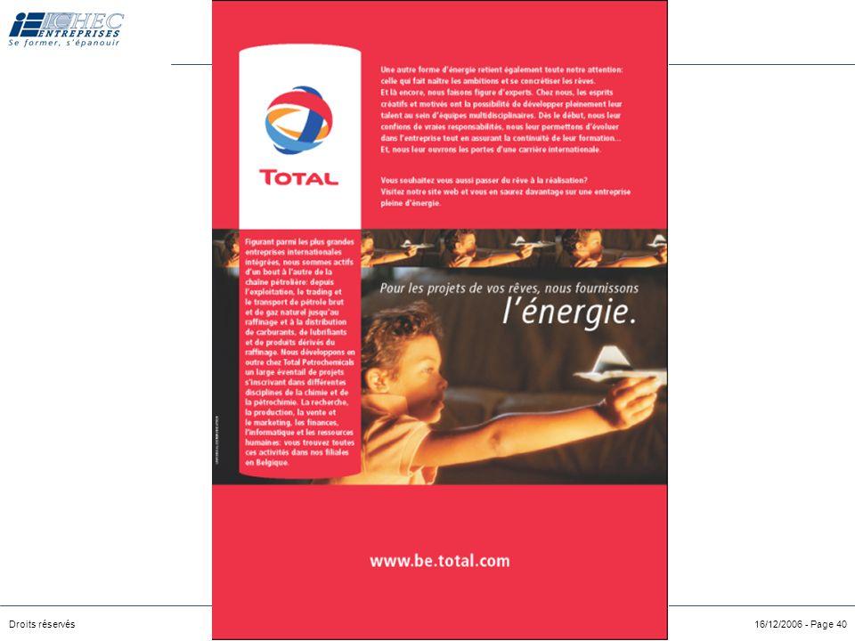 """Droits réservés LSRH module 2 – Recrutement & Sélection 16/12/2006 - Page 39 """"HR"""" comme """"PR"""" Human Resources Public Relations Effet des annonces sur l"""