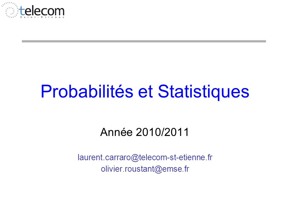 Probas-Stats FI1 octobre 10 12 Influence d'autres variables ?
