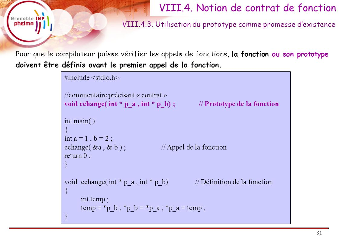 81 VIII.4.Notion de contrat de fonction VIII.4.3.