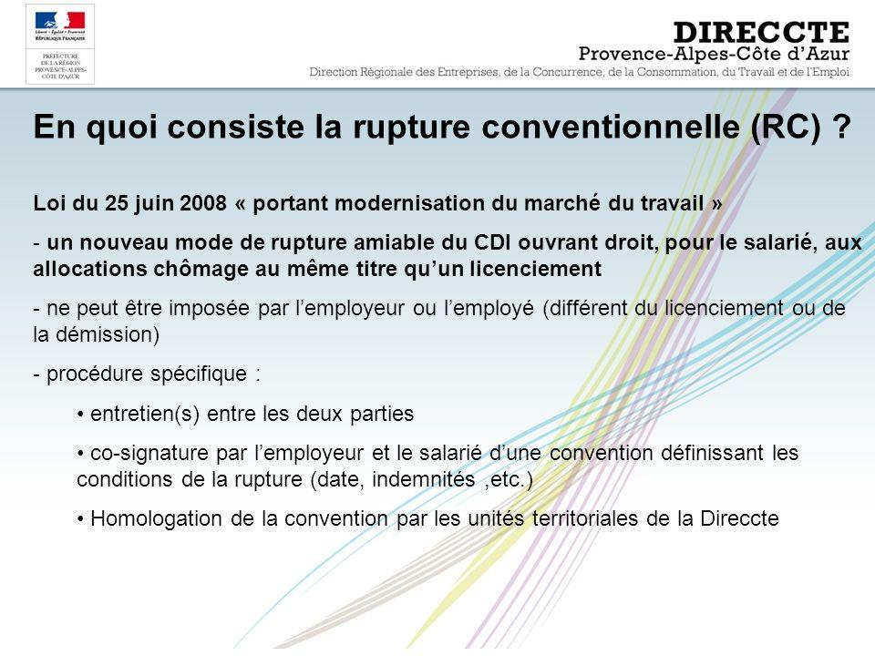En quoi consiste la rupture conventionnelle (RC) .