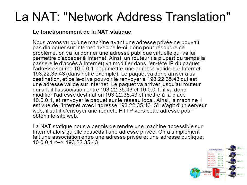 La NAT: Network Address Translation