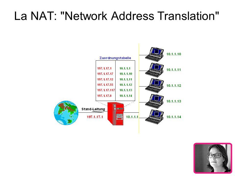 Avantages et inconvénients de la NAT statique En associant une adresse IP publique à une adresse IP privée, nous avons pu rendre une machine accessible sur Internet.