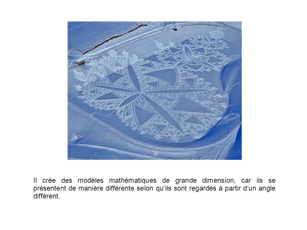 Il crée des modèles mathématiques de grande dimension, car ils se présentent de manière différente selon qu'ils sont regardés à partir d'un angle diff
