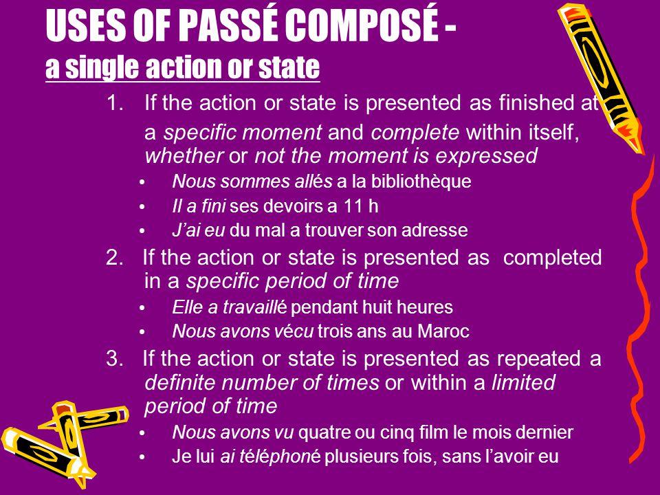 """LE PASSÉ COMPOSÉ Q: When do you use """"être"""" as the helping verb?? A: with DR & MRS VANDERTRAMP verbs DescendreVenir RentreAller &Naitre MonterDevenir R"""