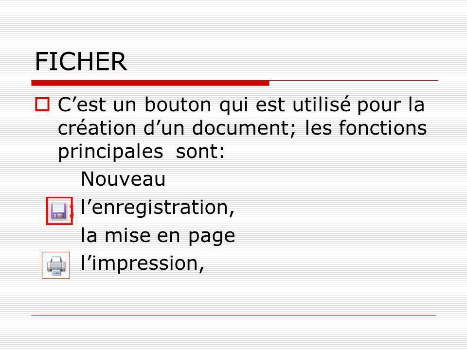 EDITION  Le commandes les plus utilisés sont: Anuler Couper Copier Coller Selectionner tout Remplacer Atteindre