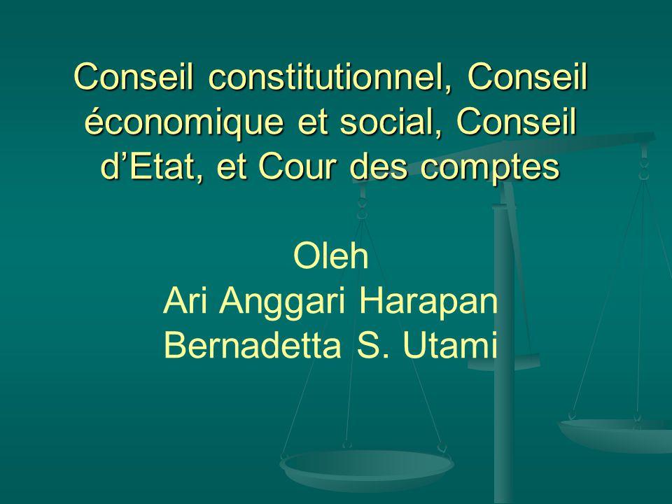 Le Conseil constitutionnel Se composé de neuf membres Sages nommés pour un mandat de neuf ans non renouvelable.
