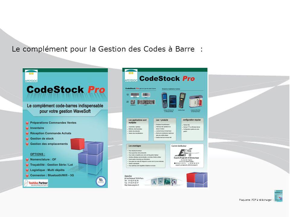 Schéma fonctionnel : Du Côté Terminaux de Lecture : Un menu d'accueil permet l'identification des utilisateurs des terminaux avec sécurisation mot de passe Pour arriver sur le Menu Principal CodeStock Pro :
