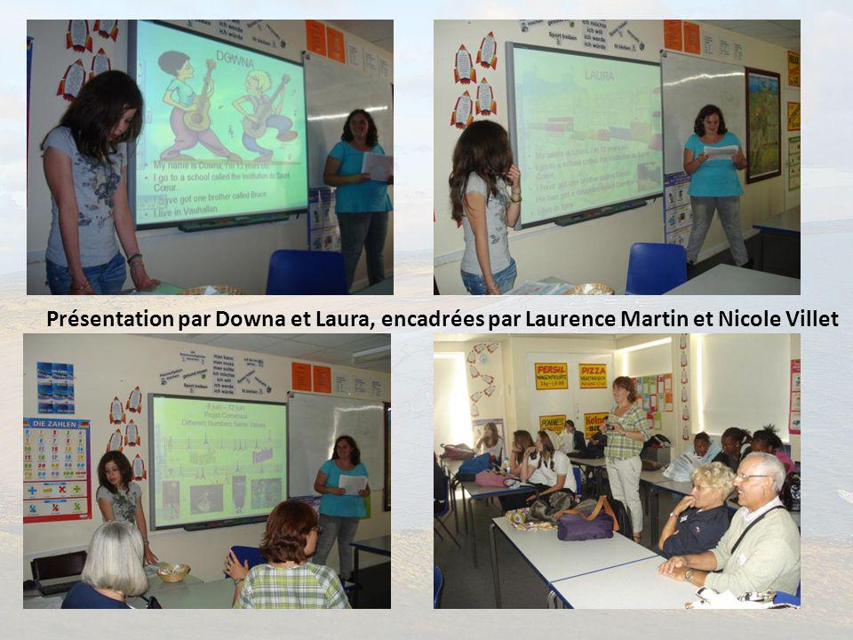 Présentation par Downa et Laura, encadrées par Laurence Martin et Nicole Villet