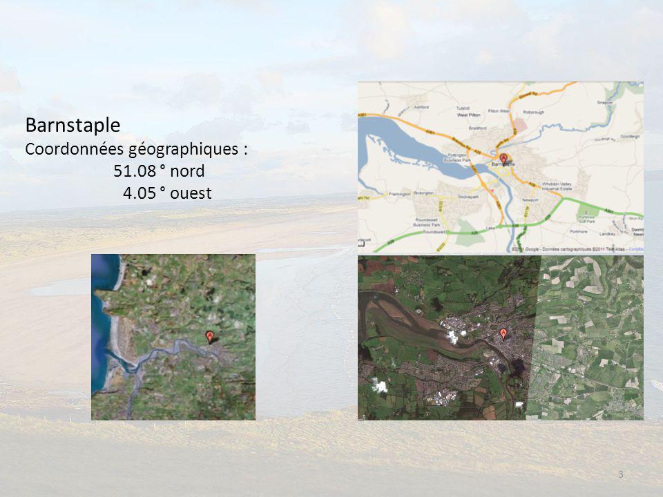 3 Barnstaple Coordonnées géographiques : 51.08 ° nord 4.05 ° ouest