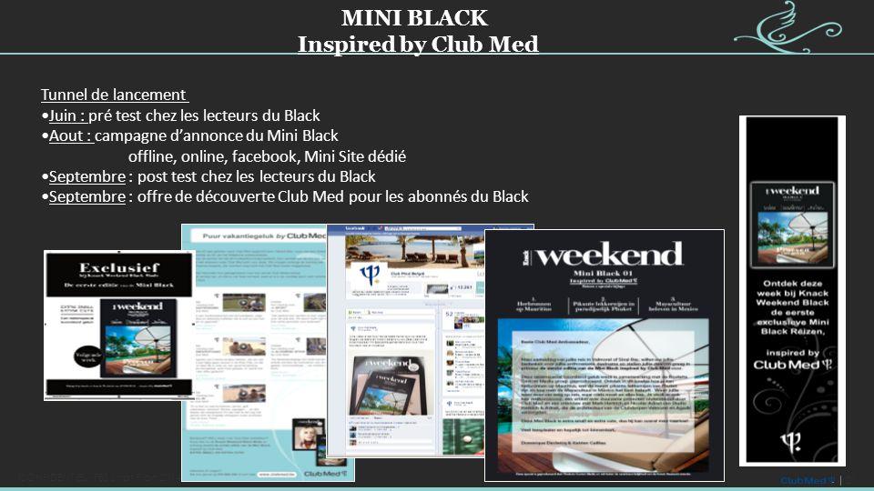 21 CONFIDENTIEL - FBS Strat Plan 2014-2016 Tunnel de lancement Juin : pré test chez les lecteurs du Black Aout : campagne d'annonce du Mini Black offl