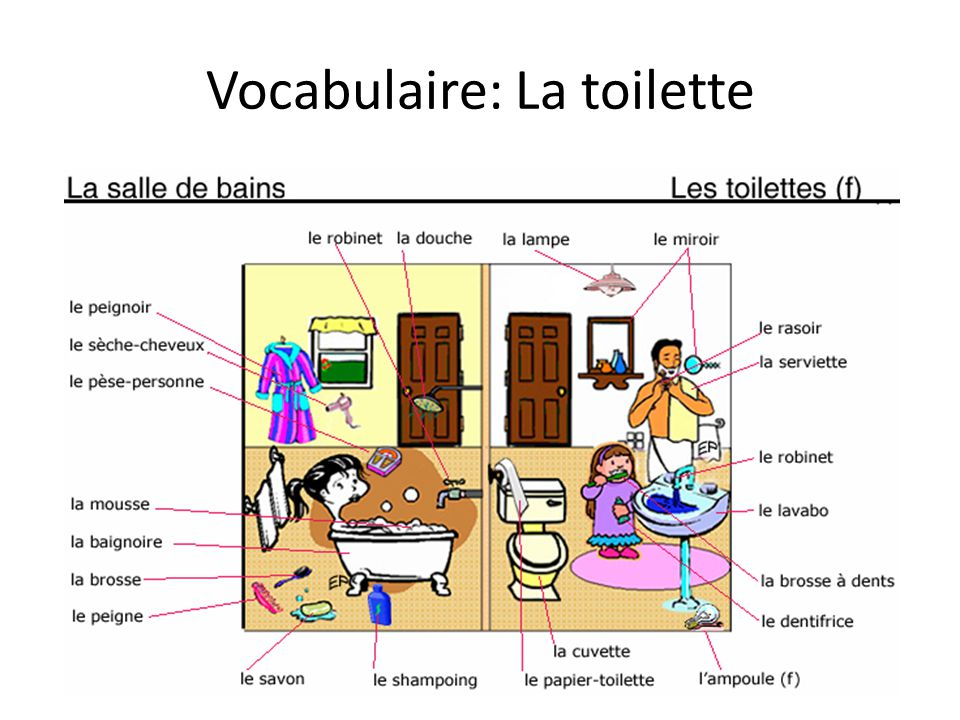 Vocabulaire: La toilette