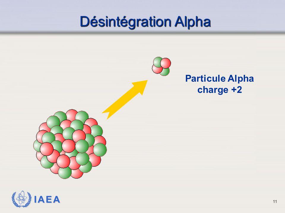 IAEA Particule Alpha charge +2 Désintégration Alpha 11