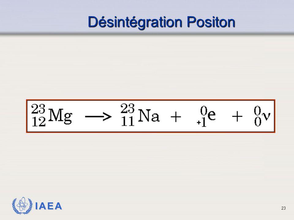 IAEA Désintégration Positon 23