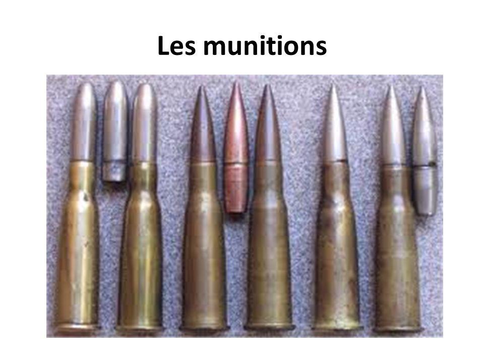 Les munitions