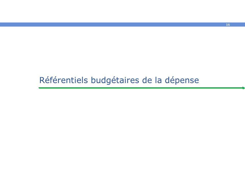 16 Référentiels budgétaires de la dépense