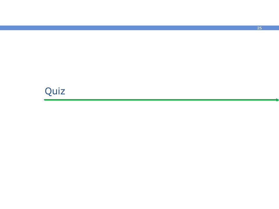 25 Quiz