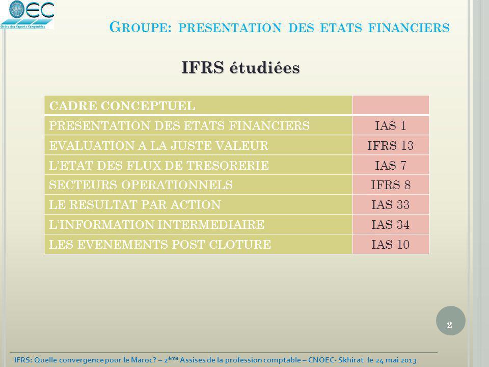 3 IFRS: Quelle convergence pour le Maroc.