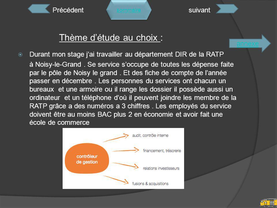 Durant mon stage j'ai travailler au département DIR de la RATP à Noisy-le-Grand.