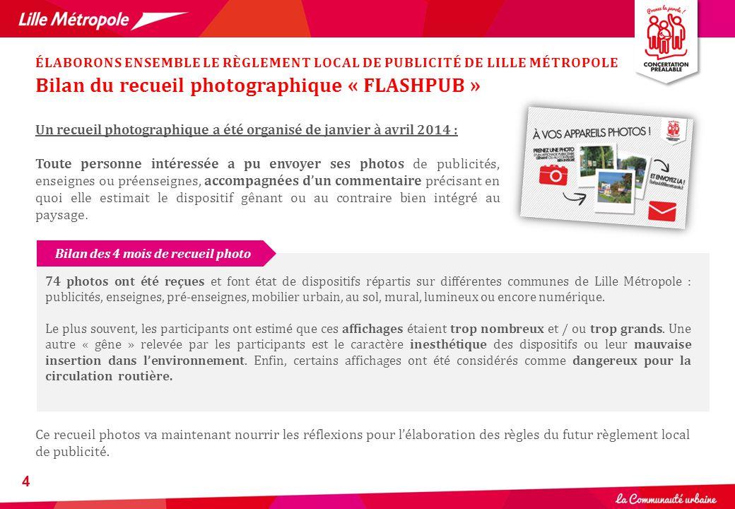 4 Un recueil photographique a été organisé de janvier à avril 2014 : Toute personne intéressée a pu envoyer ses photos de publicités, enseignes ou pré