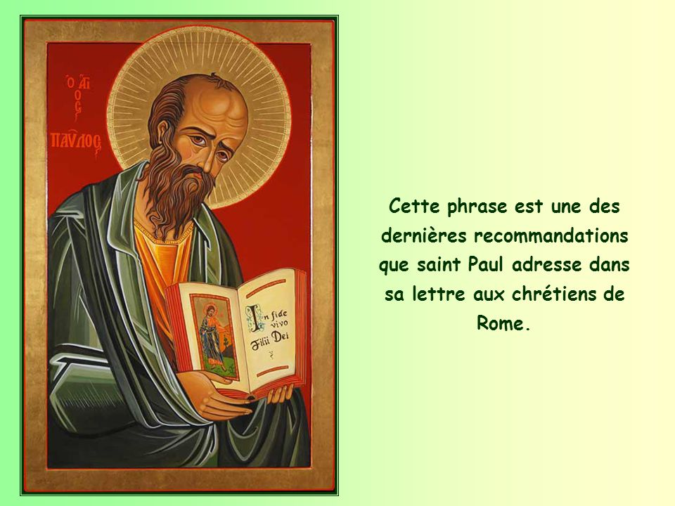 Septembre 2014 Parole de Vie « Accueillez-vous donc les uns les autres, comme le Christ vous a accueillis, pour la gloire de Dieu ». (Rm 15,7).