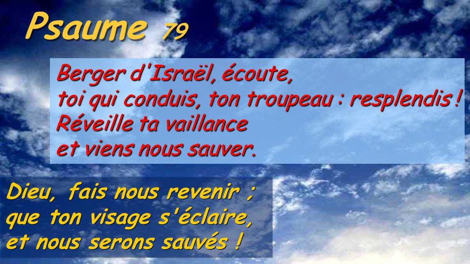 Le psaume 79 fait partie du groupe de psaumes d'Asaph (72-82) composés le 6è s. a. C. pendant la déportation en Babylone, où le peuple juif, déplacé c