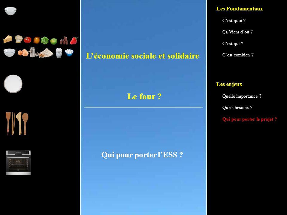 L'économie sociale et solidaire Qui pour porter l'ESS .