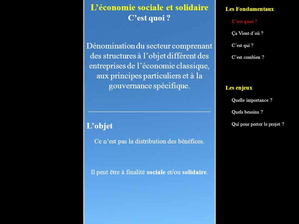 L'économie sociale et solidaire Un projet socialiste.