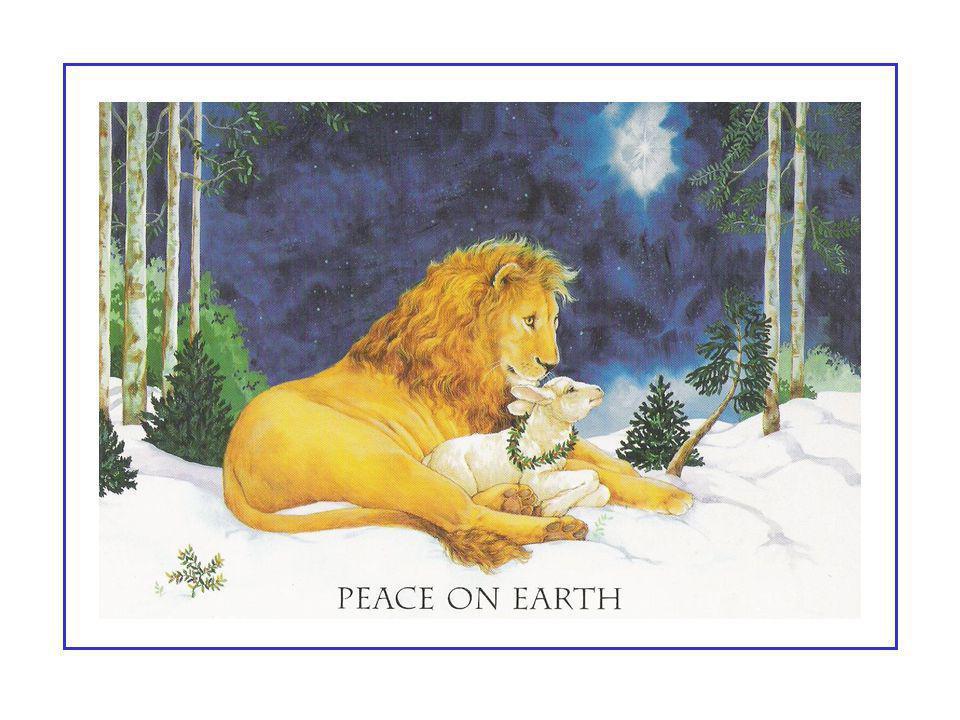 « …Telle est donc la vision de paix – la paix non seulement entre les humains et les animaux, mais aussi entre les animaux eux-mêmes. Ce que les auteu