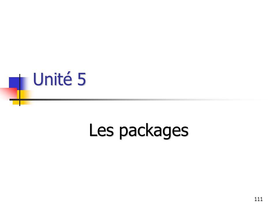 111 Unité 5 Les packages