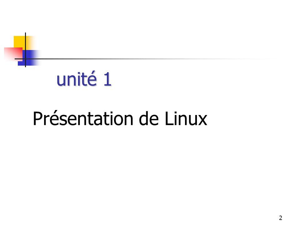 2 Présentation de Linux unité 1
