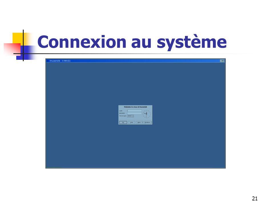 21 Connexion au système