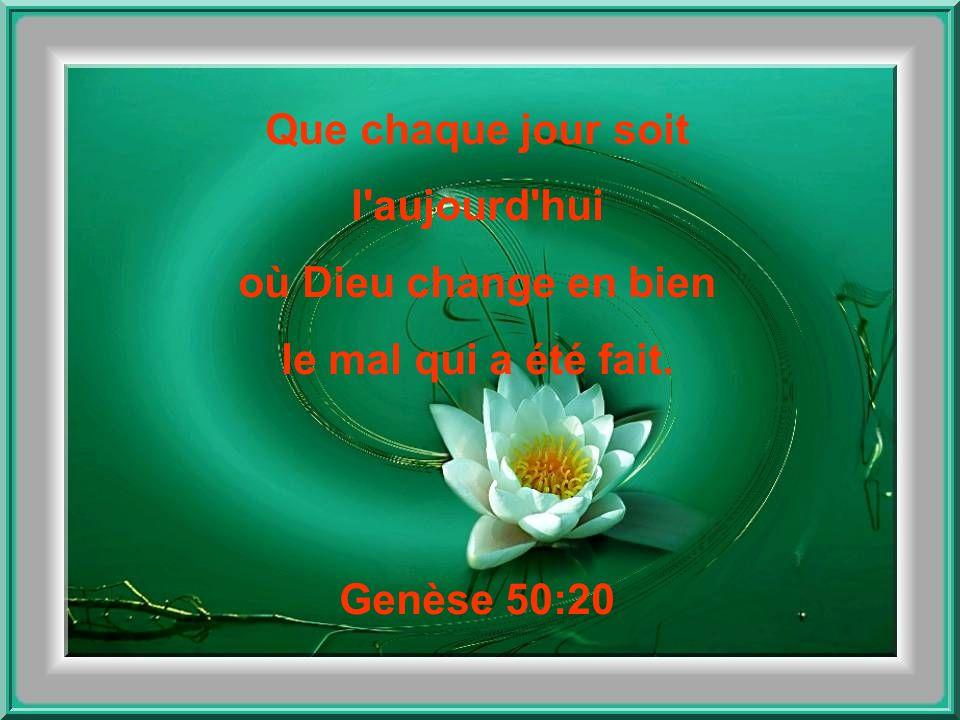 Que chaque jour soit l aujourd hui où Dieu pourvoit ! Genèse 22:14