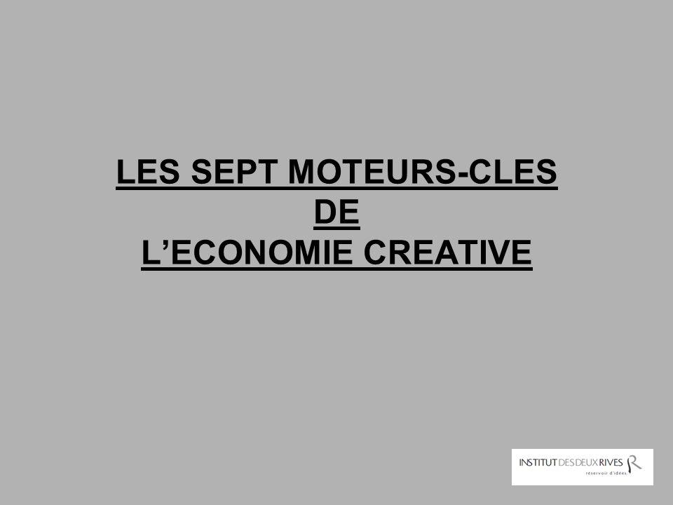LES SEPT MOTEURS-CLES DE L'ECONOMIE CREATIVE