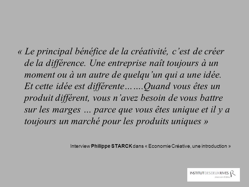 « Le principal bénéfice de la créativité, c'est de créer de la différence. Une entreprise naît toujours à un moment ou à un autre de quelqu'un qui a u