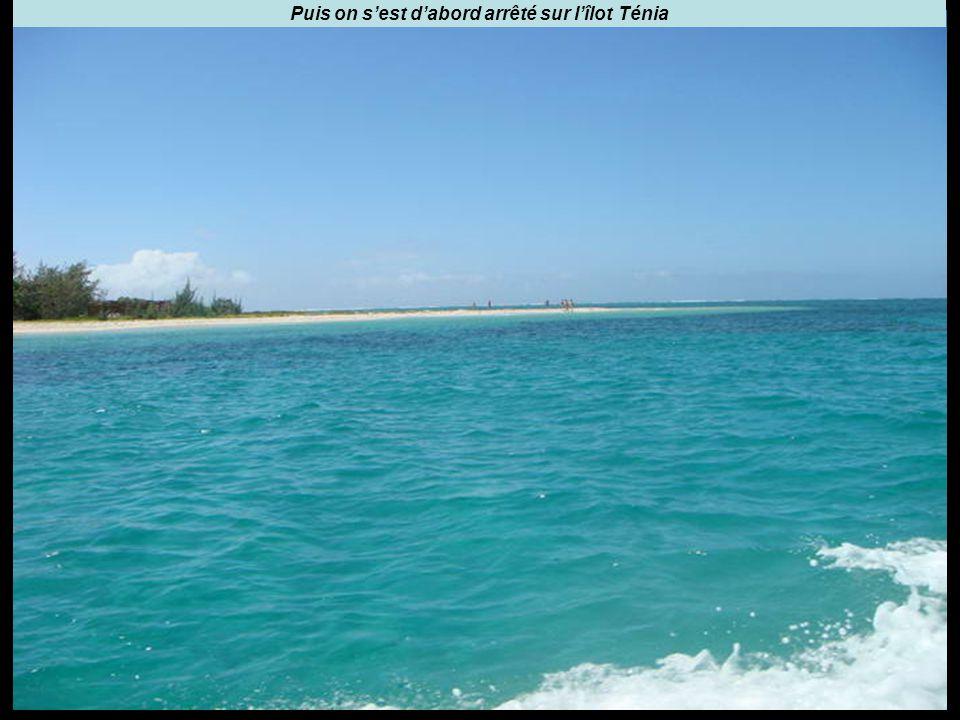 Puis on s'est d'abord arrêté sur l'îlot Ténia