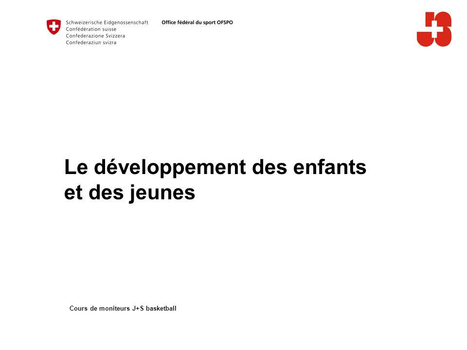 Le développement des enfants et des jeunes Cours de moniteurs J+S basketball