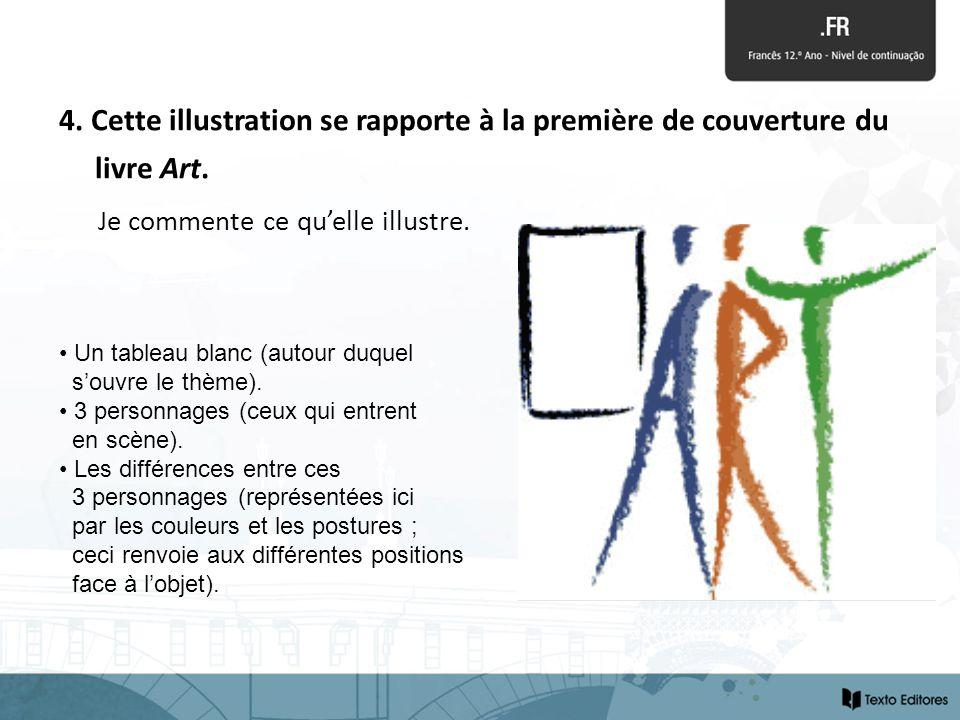 4. Cette illustration se rapporte à la première de couverture du livre Art.