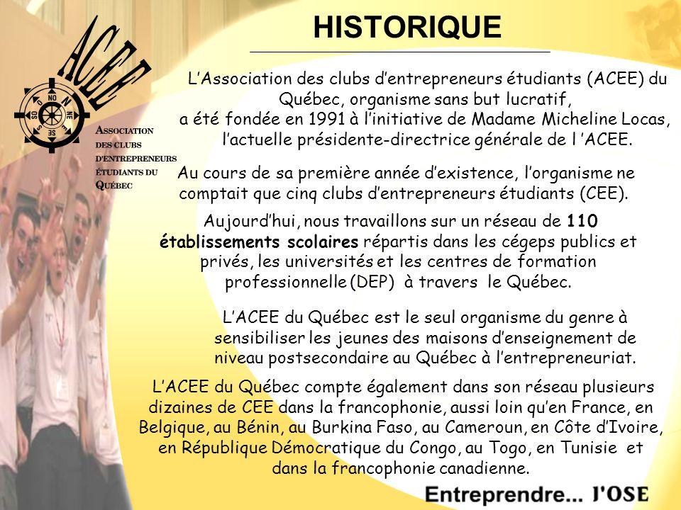 L'ACEE du Québec compte également dans son réseau plusieurs dizaines de CEE dans la francophonie, aussi loin qu'en France, en Belgique, au Bénin, au Burkina Faso, au Cameroun, en Côte d'Ivoire, en République Démocratique du Congo, au Togo, en Tunisie et dans la francophonie canadienne.