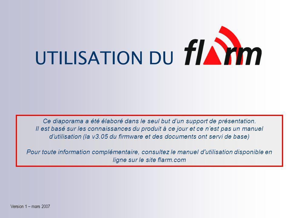 UTILISATION DU Version 1 Version 1 – mars 2007 Ce diaporama a été élaboré dans le seul but d'un support de présentation.