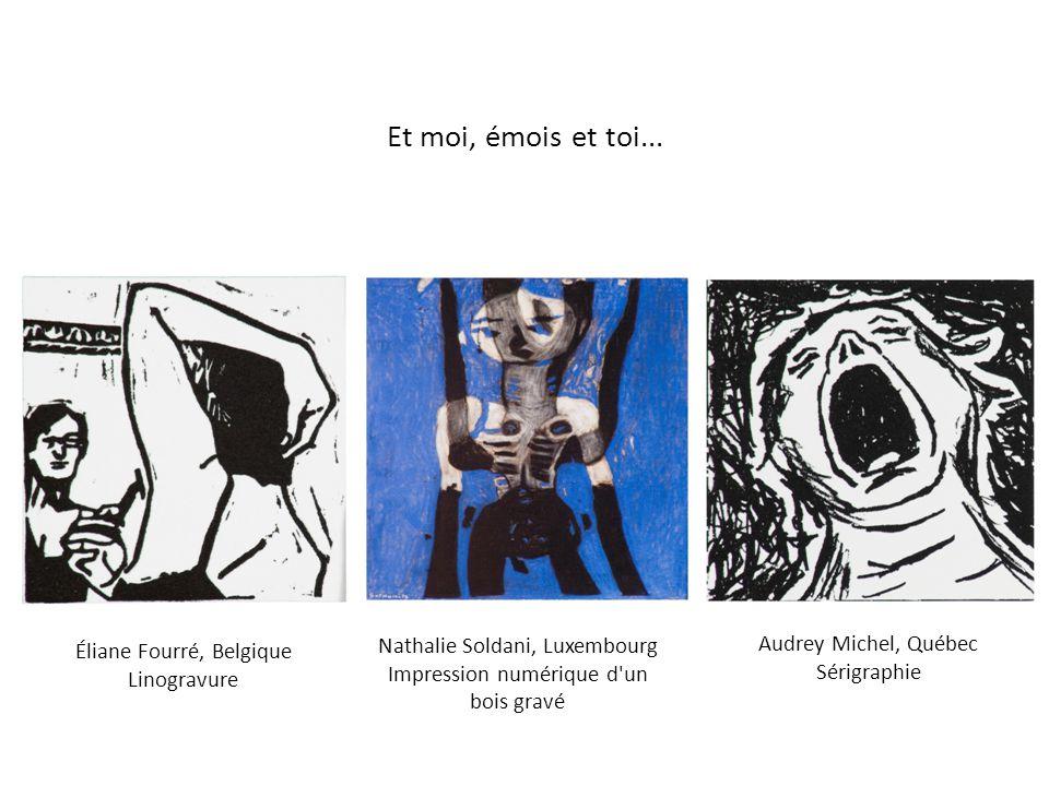 Jean-Claude Salemi, Belgique Linogravure Benoît Perreault, Québec Bois gravé Anne-Catherine Van Santen, Belgique Lithographie Triangle